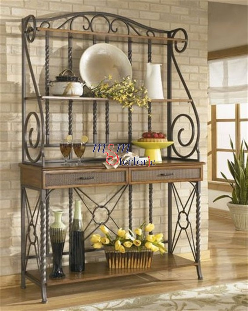 WROUGHT IRON CABINET
