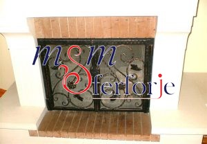 037 Wrought Iron Fireplace Cover Repair