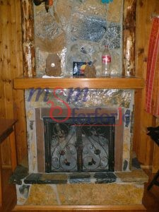 038 Wrought Iron Fireplace Cover Repair