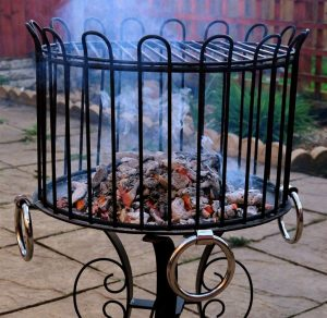 049 Wrought Iron Fireplace Cover Repair