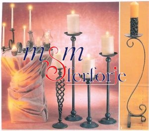 021 Wrought Iron Candle Holder and Candlestick