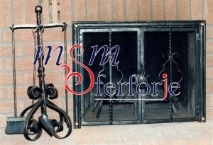 039 Wrought Iron Fireplace Cover Repair