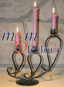 022 Wrought Iron Candle Holder and Candlestick