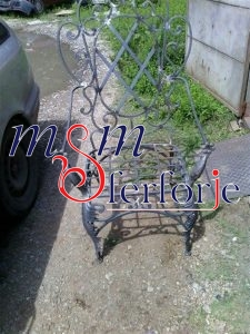 094 Wrought Iron Table Chair Coffee Table