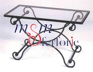 086 Wrought Iron Table Chair Coffee Table