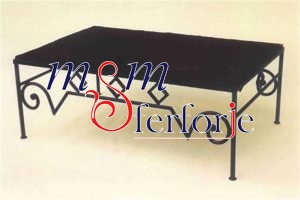 087 Wrought Iron Table Chair Coffee Table
