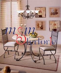 085 Wrought Iron Table Chair Coffee Table