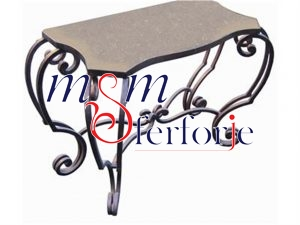 090 Wrought Iron Table Chair Coffee Table