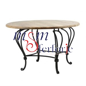 091 Wrought Iron Table Chair Coffee Table