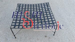 078 Wrought Iron Table Chair Coffee Table