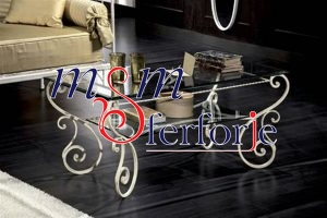 006 Wrought Iron Table Chair Coffee Table