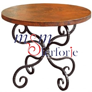 011 Wrought Iron Table Chair Coffee Table