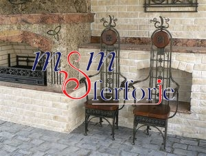 013 Wrought Iron Table Chair Coffee Table