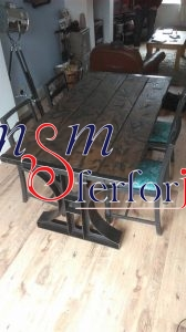 019 Wrought Iron Table Chair Coffee Table