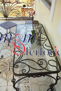 027 Wrought Iron Table Chair Coffee Table
