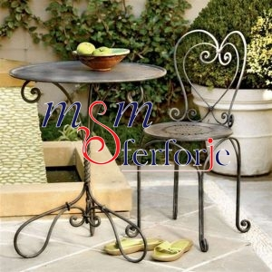 028 Wrought Iron Table Chair Coffee Table