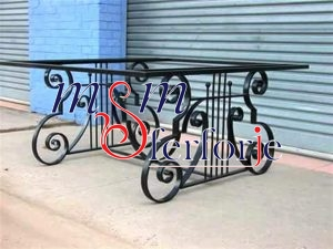081 Wrought Iron Table Chair Coffee Table