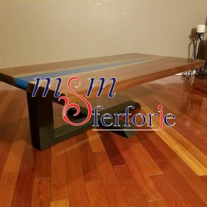 044 Wrought Iron Table Chair Coffee Table