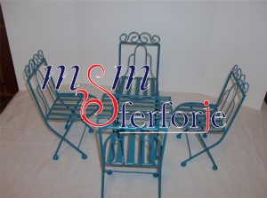 082 Wrought Iron Table Chair Coffee Table
