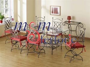 083 Wrought Iron Table Chair Coffee Table