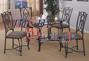 084 Wrought Iron Table Chair Coffee Table
