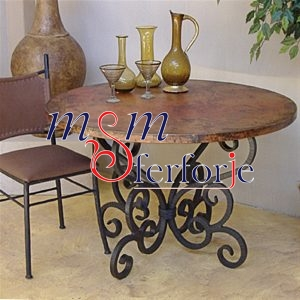 071 Wrought Iron Table Chair Coffee Table