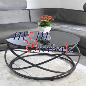 076 Wrought Iron Table Chair Coffee Table
