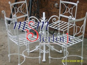 077 Wrought Iron Table Chair Coffee Table