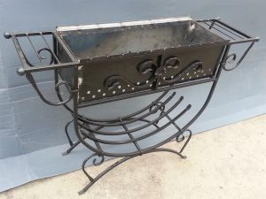 051 Wrought Iron Fireplace Cover Repair