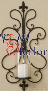011 Wrought Iron Candle Holder and Candlestick