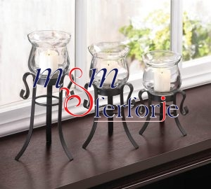 012 Wrought Iron Candle Holder and Candlestick