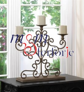 013 Wrought Iron Candle Holder and Candlestick