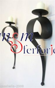 014 Wrought Iron Candle Holder and Candlestick