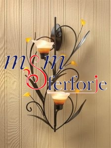 015 Wrought Iron Candle Holder and Candlestick