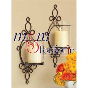 017 Wrought Iron Candle Holder and Candlestick