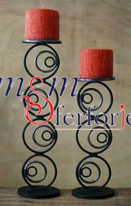 018 Wrought Iron Candle Holder and Candlestick