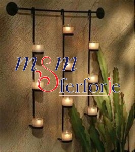 002 Wrought Iron Candle Holder and Candlestick