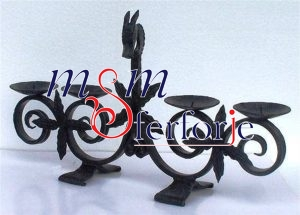 019 Wrought Iron Candle Holder and Candlestick