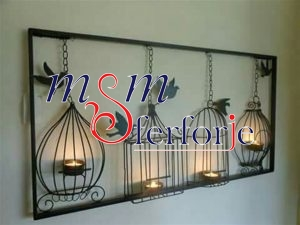 003 Wrought Iron Candle Holder and Candlestick