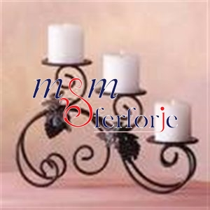 004 Wrought Iron Candle Holder and Candlestick