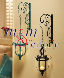 007 Wrought Iron Candle Holder and Candlestick