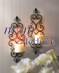 009 Wrought Iron Candle Holder and Candlestick