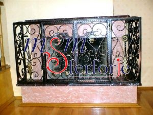045 Wrought Iron Fireplace Cover Repair