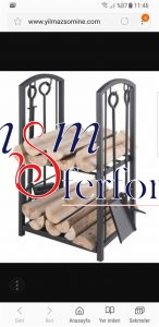 036 Wrought Iron Fireplace Cover Set