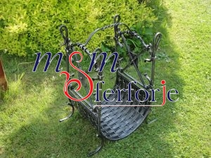 022 Wrought Iron Fireplace Cover Set