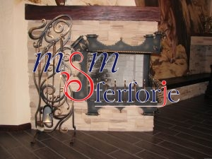 002 Wrought Iron Fireplace Cover Set