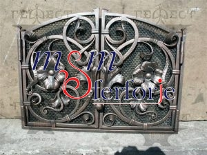006 Wrought Iron Fireplace Cover Set