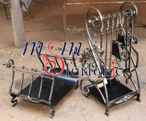 008 Wrought Iron Fireplace Cover Set