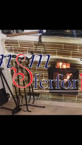 028 Wrought Iron Fireplace Cover Set