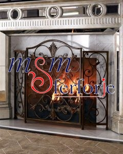 010 Wrought Iron Fireplace Cover Set